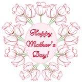 Tarjeta del día de madre Foto de archivo libre de regalías