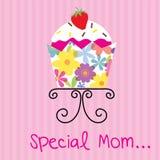 Tarjeta del día de madres con la magdalena linda Fotografía de archivo