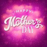 Tarjeta del día de madres con los corazones borrosos brillantes Imágenes de archivo libres de regalías