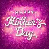 Tarjeta del día de madres con los corazones borrosos, chispas Imagen de archivo libre de regalías
