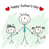 tarjeta del día de padre Foto de archivo