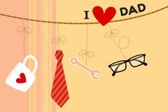 Tarjeta del día de padre ilustración del vector
