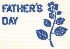 Tarjeta del día de padres Fotografía de archivo
