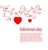 Tarjeta del día de San Valentín Imagen de archivo libre de regalías