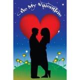 Tarjeta del día de San Valentín Fotografía de archivo libre de regalías