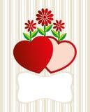 Tarjeta del día de San Valentín Fotografía de archivo