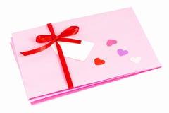 Tarjeta del día de San Valentín Fotos de archivo