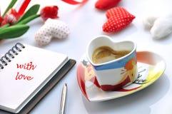 Tarjeta del día de San Valentín Imagenes de archivo