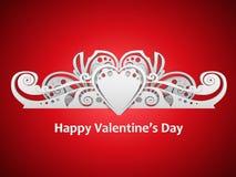 Tarjeta del día de San Valentín Foto de archivo libre de regalías