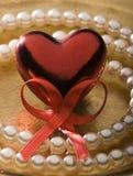 Tarjeta del día de San Valentín Imágenes de archivo libres de regalías