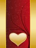 Tarjeta del día de San Valentín Foto de archivo