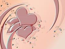 Tarjeta del día de San Valentín Stock de ilustración