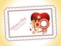 Tarjeta del día de San Valentín abstracta Fotografía de archivo libre de regalías