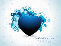 Tarjeta del día de San Valentín abstracta Imagen de archivo