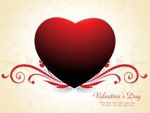 Tarjeta del día de San Valentín abstracta Imágenes de archivo libres de regalías