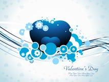 Tarjeta del día de San Valentín abstracta Fotos de archivo