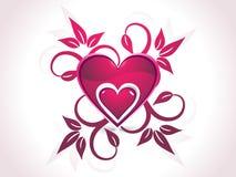 Tarjeta del día de San Valentín abstracta Imagen de archivo libre de regalías
