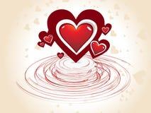 Tarjeta del día de San Valentín abstracta ilustración del vector