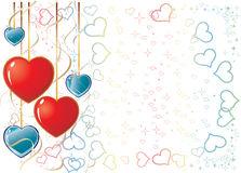 Tarjeta del día de San Valentín Background1 stock de ilustración