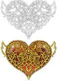 Tarjeta del día de San Valentín céltica Imagen de archivo