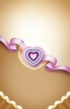Tarjeta del día de San Valentín card2 foto de archivo libre de regalías