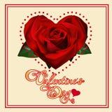 Tarjeta del día de San Valentín \ \ \ \ \ \ \ \ \ \ \ \ \ \ \ 'coche del día de s Fotos de archivo