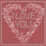 Tarjeta del día de San Valentín \ 'color de rosa de la tarjeta del día de s Fotografía de archivo libre de regalías