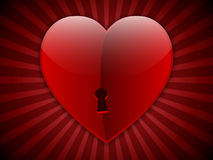 Tarjeta del día de San Valentín con el corazón grande Imagenes de archivo
