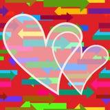 Tarjeta del día de San Valentín con el fondo floral ilustración del vector