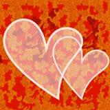 Tarjeta del día de San Valentín con el fondo floral stock de ilustración