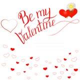 Tarjeta del día de tarjeta del día de San Valentín con el saludo inscription4 foto de archivo