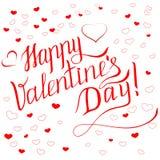 Tarjeta del día de tarjeta del día de San Valentín con la inscripción del saludo imagenes de archivo
