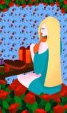 Tarjeta del día de San Valentín con la muchacha linda libre illustration