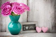Tarjeta del día de San Valentín, día Imágenes de archivo libres de regalías