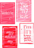 Tarjeta del día de San Valentín day-02 Imagen de archivo libre de regalías
