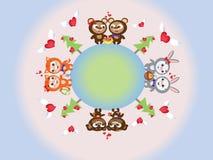 Tarjeta del día de San Valentín day.CMYK Imágenes de archivo libres de regalías