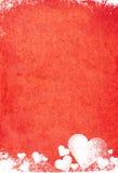Tarjeta del día de San Valentín de Grunge Imagen de archivo