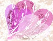 Tarjeta del día de San Valentín de Grunge Fotografía de archivo
