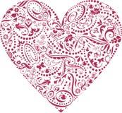 Tarjeta del día de San Valentín de iconos Imágenes de archivo libres de regalías