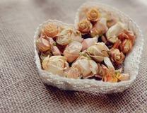 Tarjeta del día de San Valentín de la flor Imagen de archivo libre de regalías