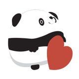 Tarjeta del día de San Valentín de la panda Stock de ilustración
