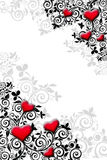 Tarjeta del día de San Valentín de la plantilla Fotos de archivo