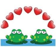 Tarjeta del día de San Valentín de la rana Foto de archivo libre de regalías