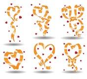 Tarjeta del día de San Valentín de las cintas Imagenes de archivo