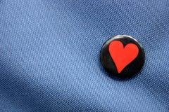 Tarjeta del día de San Valentín de los pantalones vaqueros fotos de archivo