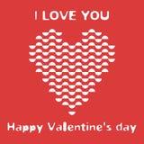 Tarjeta del día de San Valentín de los semicírculos gráficos de los elementos Fotografía de archivo