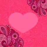 Tarjeta del día de San Valentín decorativa Imagen de archivo