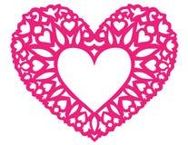 Tarjeta del día de San Valentín del corazón Fotografía de archivo