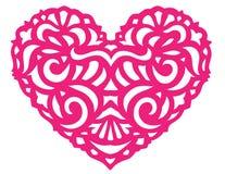 Tarjeta del día de San Valentín del corazón Foto de archivo