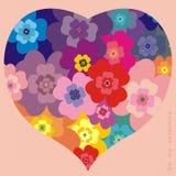Tarjeta del día de San Valentín del corazón Imagenes de archivo